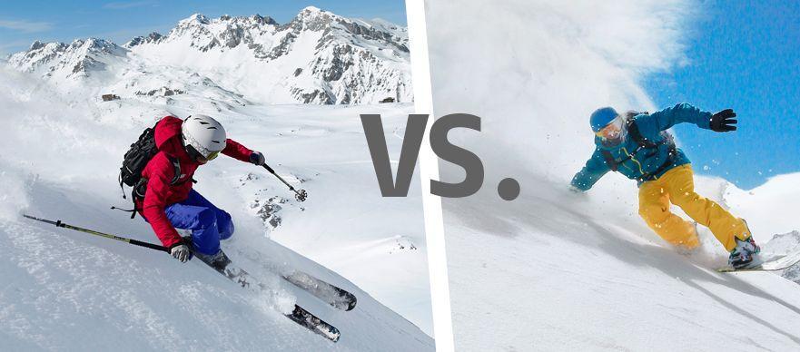 Кто круче? Сноубордист или лыжник
