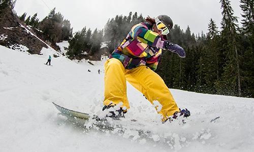 Как правильно остановиться на сноуборде?