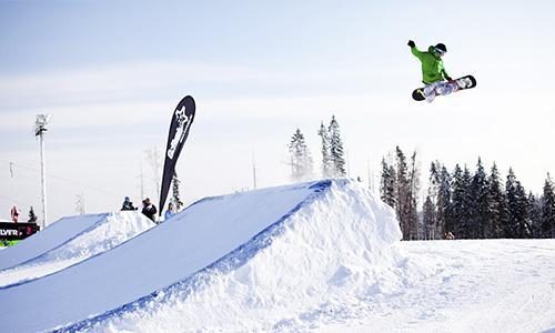 Северный склон. Научился стоять на сноуборде с первого раза!